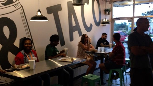 Tin and Taco tables