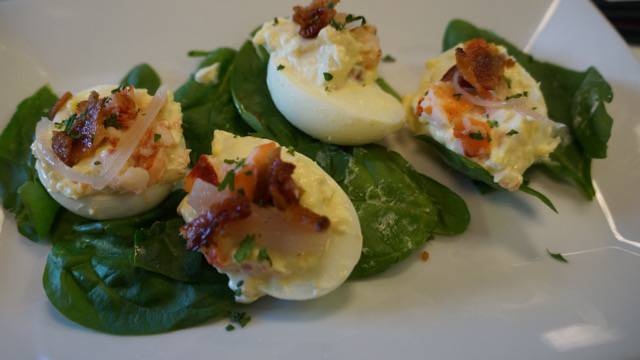 Two Chefs Brunch deviled eggs